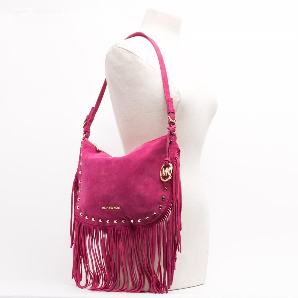 7bd9435ed379b2 ... closeout michael michael kors fringe dakota shoulder bag.