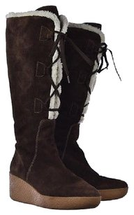 MICHAEL Michael Kors Womens Knee High Suede Leather Brown Boots