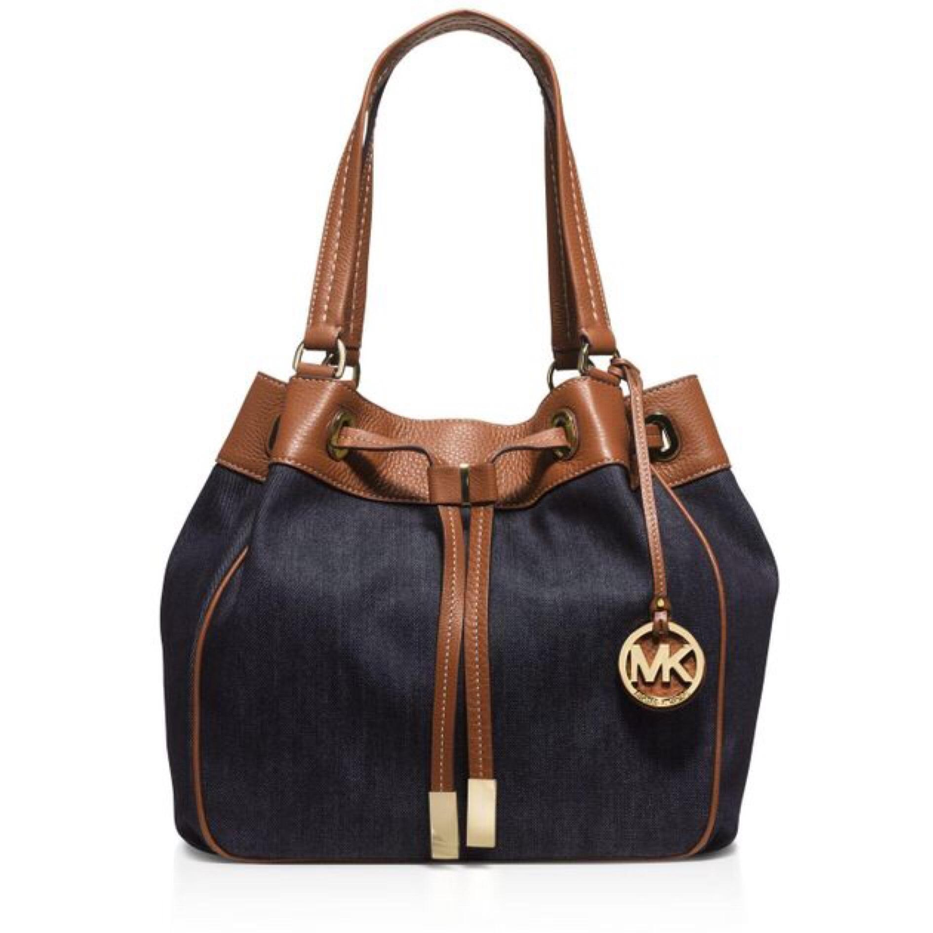 MICHAEL Michael Kors Tote in Blue and Brown ...