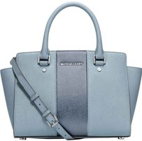 MICHAEL Michael Kors Selma Powder Satchel in Blue