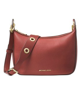 MICHAEL Michael Kors Raven Leather Messenger Shoulder Bag