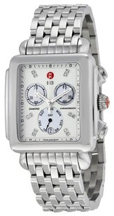 Michele Deco XL Diamond Chronograph of Pearl Stainless Steel Ladies Watch