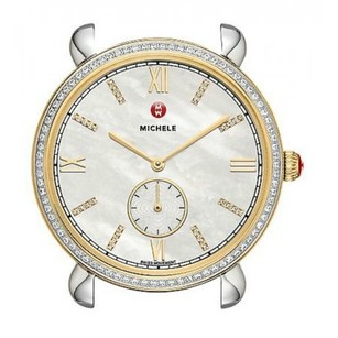 Michele Gracile Diamond Mother Of Pearl Dial Two-Tone Womens Watch