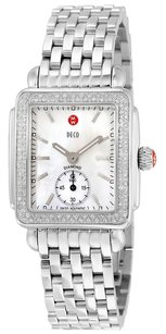 Michele Ladies Deco-16 Mother of Pearl Dial Steel Watch MWW06V000001