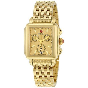 Michele Michele Deco Gold Metallic Dial Gold-plated Stainless Steel Quartz Ladies Watch
