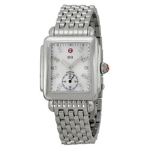 Michele Michele Ladies Deco-16 Mother Of Pearl Diamond Dial Watch