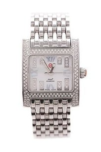 Michele Michele Stainless Steel Diamond Mw2 Mini Womens Watch