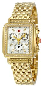 Michele MWW06P000100 Deco Day Gold-tone Diamond Dial Watch