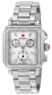 Michele MWW06P000103 Signature Deco Diamond Chronograph Mother of Pearl Ladies Watch