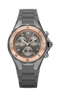 Michele Tahitian Jelly Bean Grey Rose Gold Tone, Grey Dial MWW12F000064