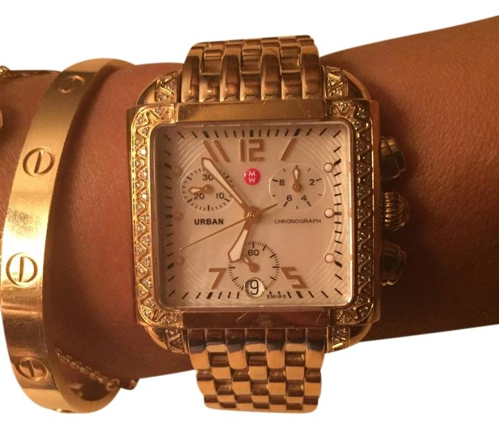 Michelle urban gold watch with diamonds