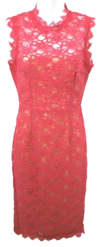 Mikael aghal red lace dress