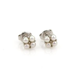 Mikimoto Mikimoto Akoya Pearls Stud Earrings In 18k White Gold