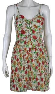 Millau Womens Red Sheath Floral Above Knee Summer Casual Dress