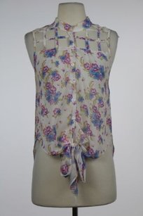 Millau Womens Floral Top Ivory