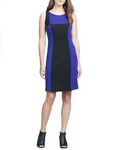 MILLY Cobalt Color Block Knit Sheath P 160501f Dress