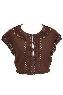 MILLY Good Womens Top brown