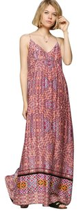 red Maxi Dress by MINKPINK Tile Print