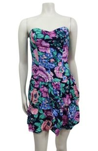 MINKPINK short dress Multi-Color Strapless Floral on Tradesy