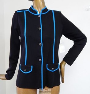 Misook Royal Blue Black Jacket