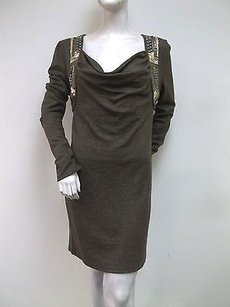 Miss Me short dress Brown Sequined Shift on Tradesy