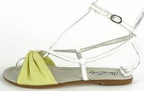 Miss Sixty White / Yellow Sandals