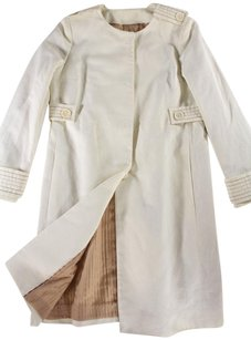 Missoni 42 Blend Cotton Cream Ej Coat