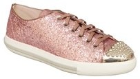 Miu Miu Glitter Lux Calzature Donna Sneakers In Rosa Pink Athletic