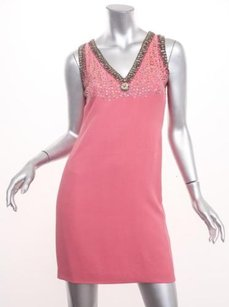 Miu Miu short dress Coral Womens Sleeveless Beaded Sequin Shift 382 on Tradesy