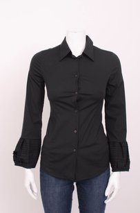 Miu Miu Stretch Cotton Top Black