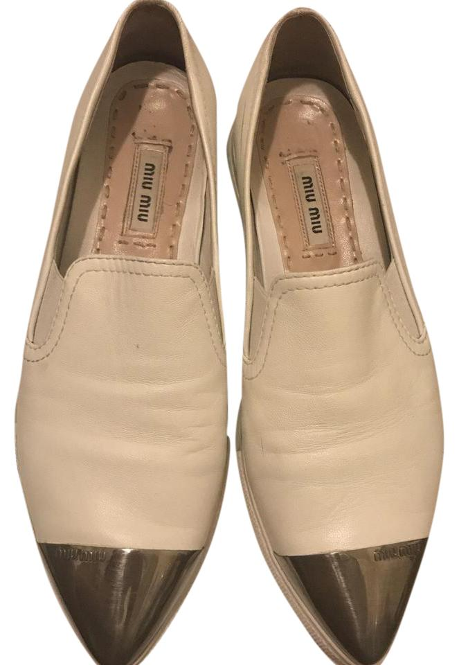 Miu Miu White Platform Slip-on Sneakers