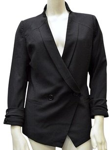 MM Couture Mm Couture By Miss Me Black Double Breasted Blazerjacket 110155pk