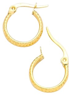 Modern Edge 10 mm Hypoallergenic stainless steel metal hoop earrings