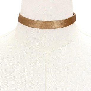Modern Edge Faux leather choker necklace