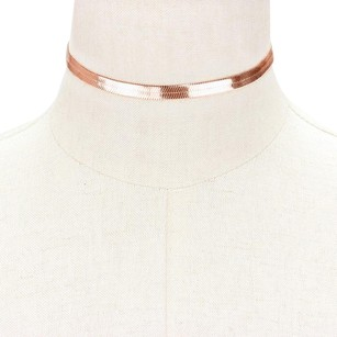 Modern Edge Metal omega choker necklace
