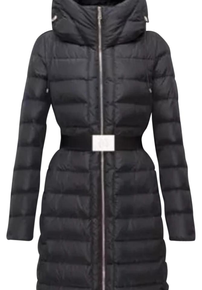 moncler black down imin coat