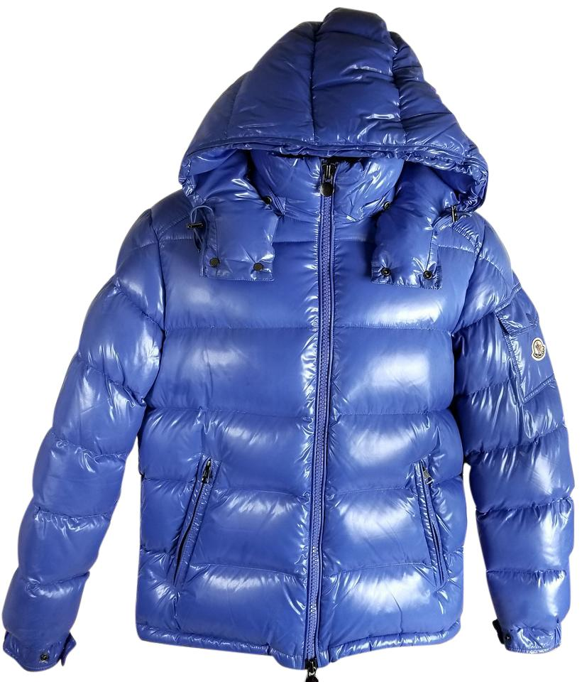 Moncler Blue Shiny Men's Jacket ...