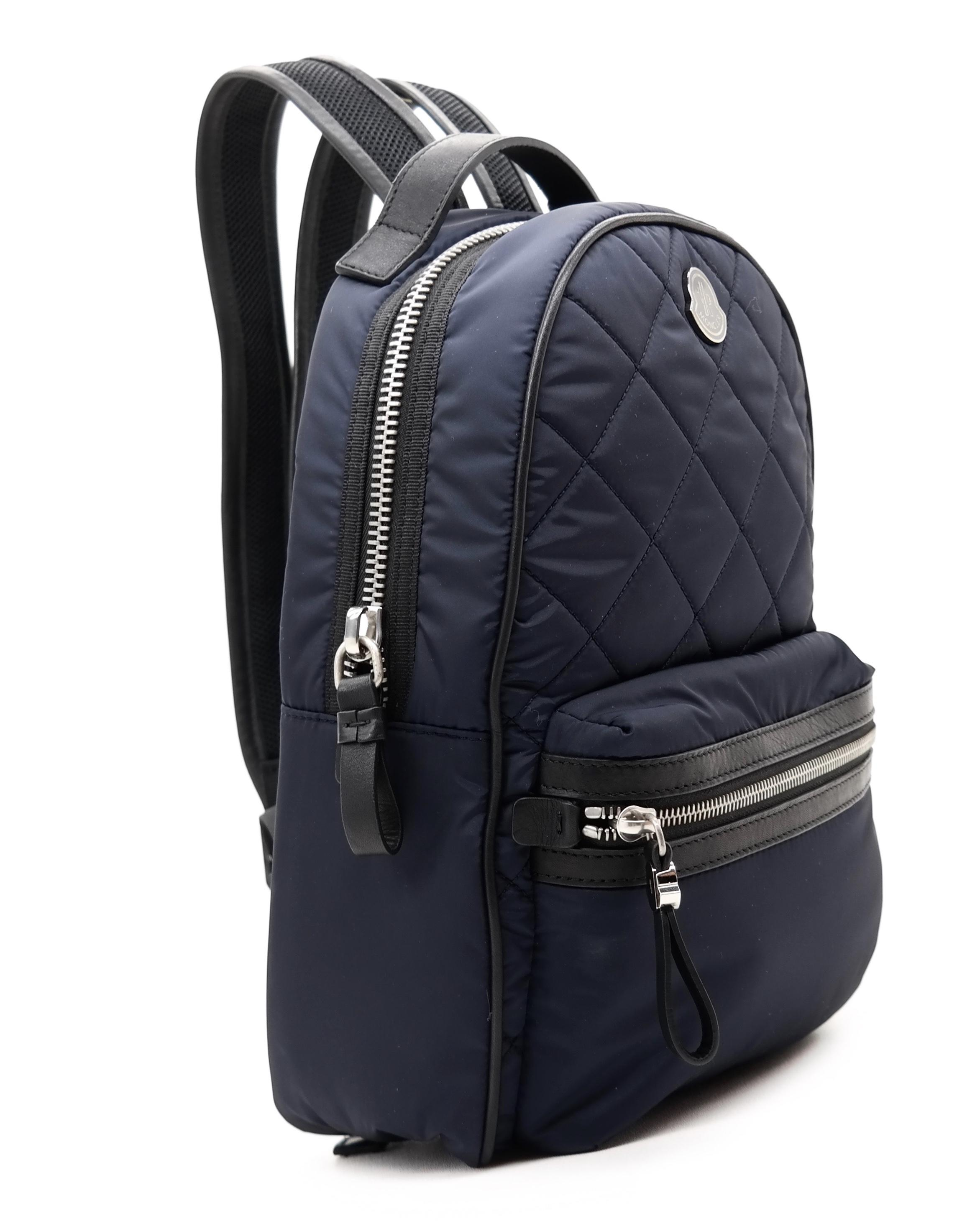 Black Nylon Georgette Backpack Moncler gPKaMUHN