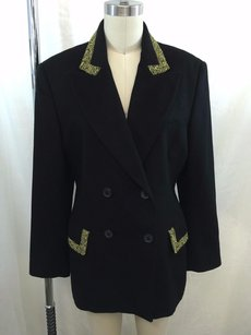 Mondi Vintage Black Wool Black/ Yellow Jacket