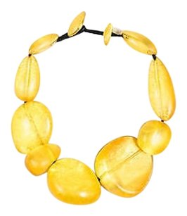 Monies Vintage Monies Gerda Lynggaard Yellow Oversized Stone Statement Necklace