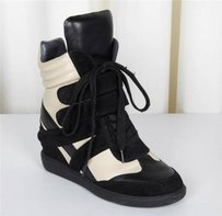 Monika Chiang Womens Leather Black+Cream Athletic