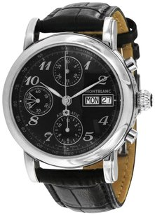 Montblanc Montblanc Men's Star Black Leather Band Automatic Watch 08451