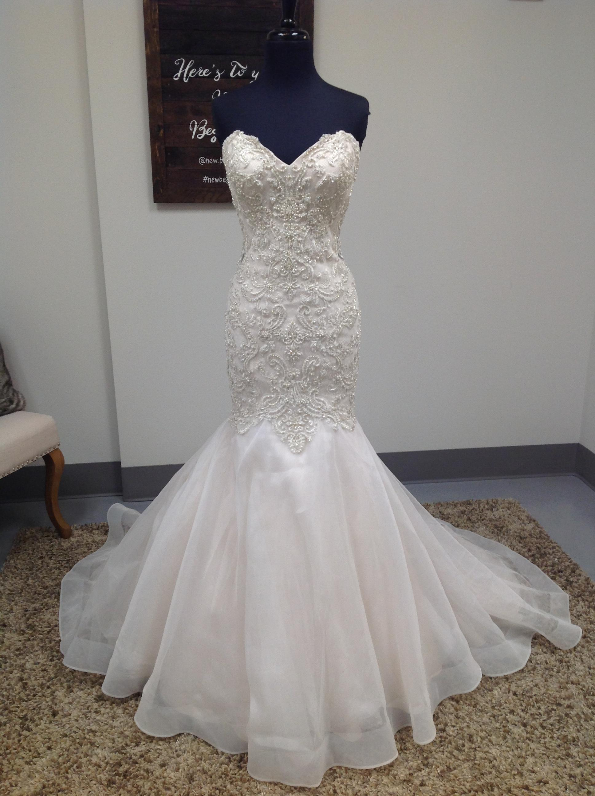 Mori Lee Ivory Champagne Lace And Organza 8120 Wedding