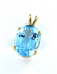 Morningstars Blue Topa Pendant Jewelry 14Kt Yellow Gold 2.8dwt