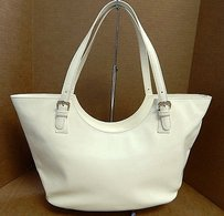 Moschino Creamy Off White Tote in Off-white