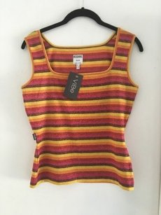 Moschino Glittery Striped Top Multi-Color