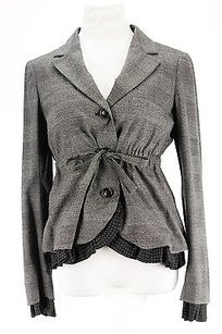 Moschino Moschino Houndstooth Womens Suit Grey Virgin Wool Blend -