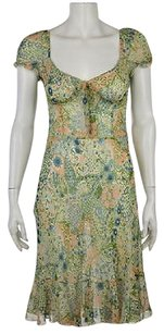 Moschino Cheap Amp Chic Womens Floral Knee Length Sheath Dress