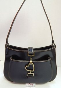 Moschino Chocolate Leather Italy Shoulder Bag