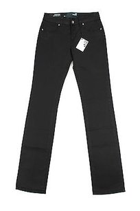Moschino Womens Black Straight Leg Jeans